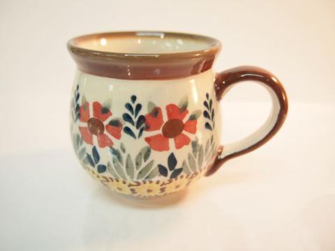 ポーランド陶器☆マグカップ(13074)